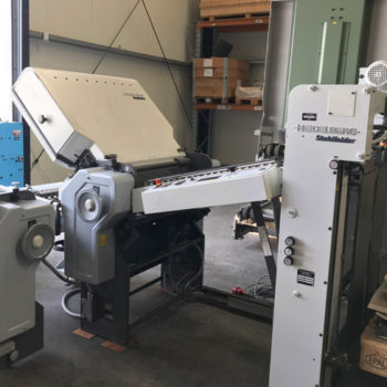 Heidelberg Stahlfolder TD 78 with pallet feeder, heidelberg TD 78 442 folding machine