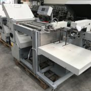 MB Bauerle CAS 52 4/4 folding machine, used mb bauerle cas folding machine, used mb bauerle machine, rob-son graphics international bv