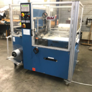 used BVM Brunner Compacta 5020 foil packaging machine + shrink tunnel