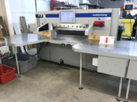 used baumann wohlenberg 115 high speed guillotine